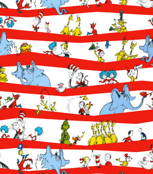 Dr. Seuss Stripe Fabric Cotton Fabric