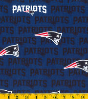 New England Patriots NFL Navy Cotton Fabric by Fabric Traditions, , hi-res