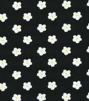 Keepsake Calico™ Cotton Fabric-Miss Daisy Black Flower, , hi-res