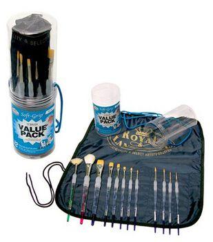 Royal Soft Grip Brush Set w/Apron & Caddy