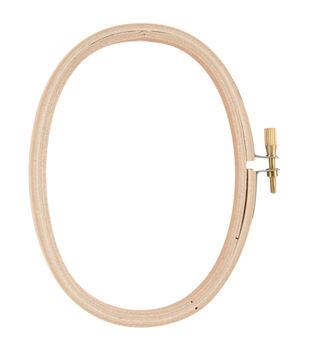 3 X 5 Inch Oval Wood Hoop