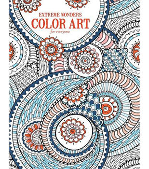 Adult Coloring Book-Extreme Wonders Color Art For Everyone