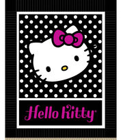"Hello Kitty Black and White 48"" No Sew Fleece Throw, , hi-res"