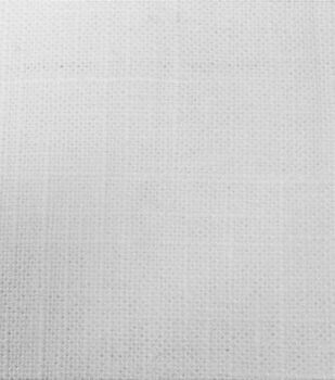 Signature Series Solid Linen Fabric-White
