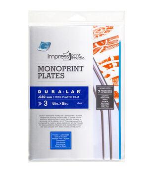 "Impress Monoprint Plates 3/Pkg-6""X8"""
