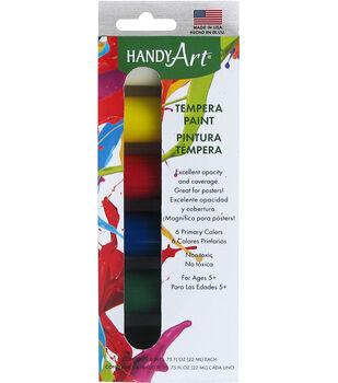 Handy Art Tempera Paint Kit .75oz 6/Pkg