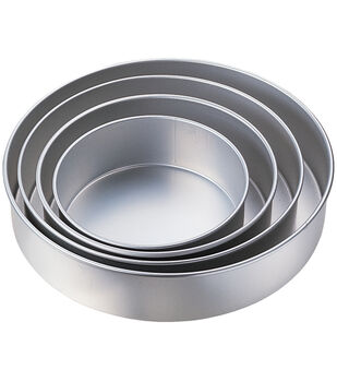 "Wilton® Performance Cake Pan Set 4/Pk-8"", 10"", 12"", 14"" Round"