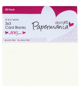 "Papermania Square Cards/Envelopes 3""X3"" 20/Pkg-Cream"