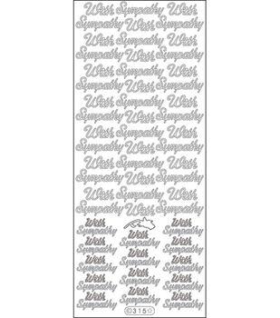 "Elizabeth Craft Designs With Sympathy Peel Off Stickers 4""X9"" Sheet-Black"
