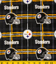 Pittsburgh Steelers NFL Flannel Fabric by Fabric Traditions, , hi-res