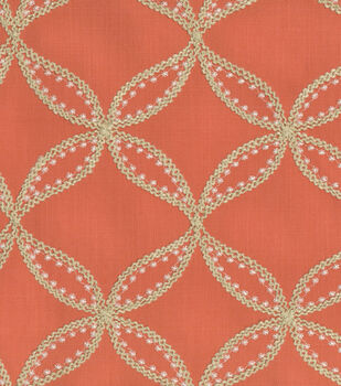 Upholstery Fabric-Williamsburg Tanjib Emb Turmeric