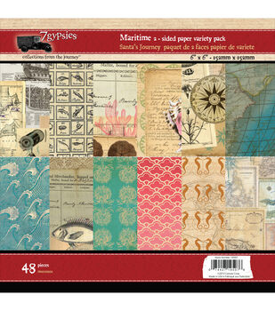 7 Gypsies Maritime Double-Sided Paper Pad 6''x6''