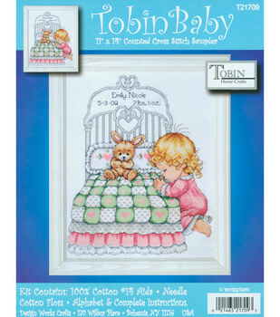 "Tobin Baby 11""x14"" Counted Cross Stitch-Bedtime Prayer Birth Record"