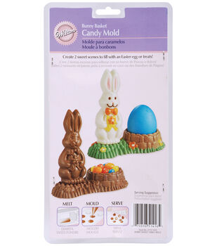 Wilton® Candy Mold-2 Cavity Bunny Basket