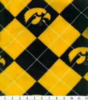 University of Iowa NCAA Argyle Fleece Fabric, , hi-res
