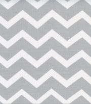Keepsake Calico™ Cotton Fabric-Gray&White Chevron, , hi-res