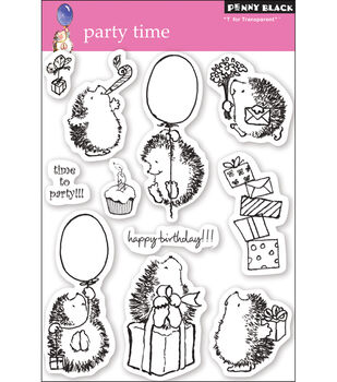 "Penny Black Clear Stamps 5""X7.5"" Sheet-Party Time"