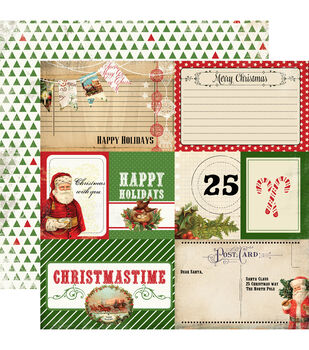 "Christmas Time Double-Sided Cardstock 12""X12""-Journaling Cards"