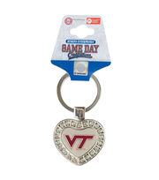 Virginia Tech NCAA Heart Keychain, , hi-res