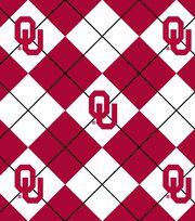 University Oklahoma NCAA Argyle Fleece Fabric, , hi-res
