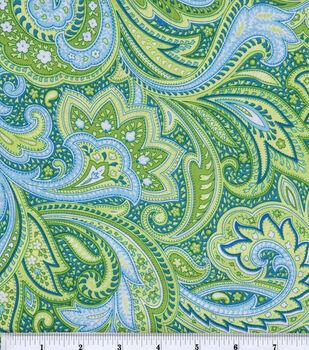 Keepsake Calico™ Cotton Fabric-Paisley Green