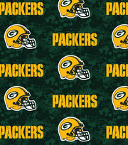 Green Bay Packers NFL Digital Fleece Fabric by Fabric Traditions, , hi-res