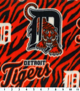 Detroit Tigers MLB  Fleece Fabric