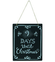 "Fab Lab™ 8""x10"" Christmas Countdown Chalkboard with Jute Hanger, , hi-res"