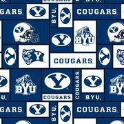 Brigham Young University NCAA Block Fleece Fabric, , hi-res