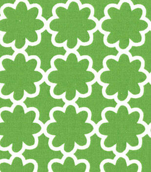 Quilter's Showcase™ Cotton Fabric-Flower Green/White