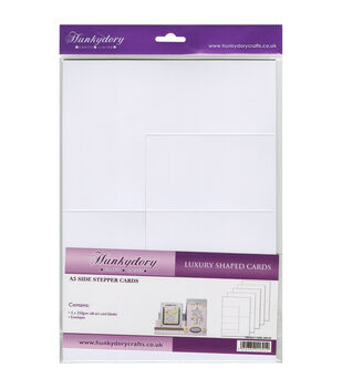 Hunkydory Luxury Silk Art Shaped Cards With Envelopes White Side Stepper
