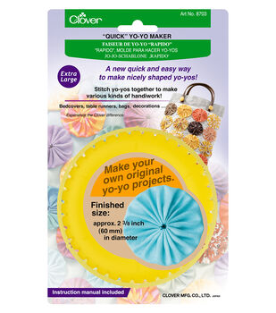 Clover® Quick Yo Yo Maker-Round Extra Large