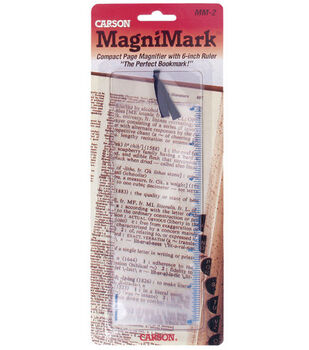 "MagniMark 3x Compact Bookmark Magnifier with 6"" Ruler"