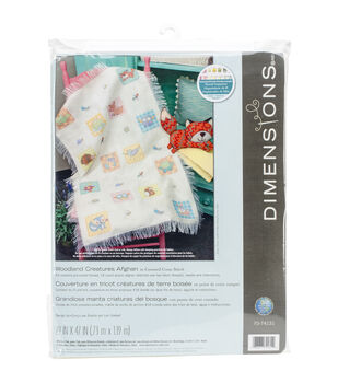 Dimensions Woodland Creatures Afghan Counted Cross Stitch Kit