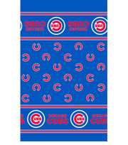 Chicago Cubs MLB Border Fleece Fabric, , hi-res