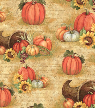 Susan Winget Harvest Cotton Fabric-Horn Of Plenty