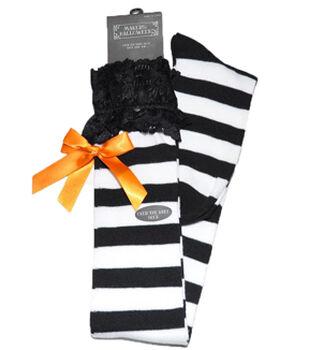 Maker's Halloween Over the Knee Socks-Lace White
