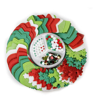Little Makers™ Holiday Craft Foam Party Platter-Red White Green