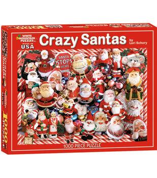 White Mountain Puzzles Jigsaw Puzzle Crazy Santas