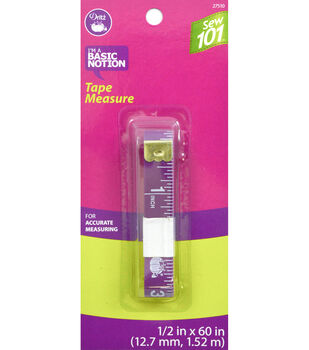 """Dritz 0.5"""" x 60"""" Sewing 101 Tape Measure"""