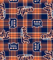 Detroit Tigers MLB Plaid Fleece Fabric, , hi-res
