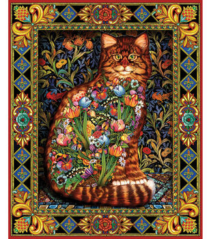 """White Mountain 1000 Piece Jigsaw Puzzle 24""""X30""""-Tapestry Cat"""