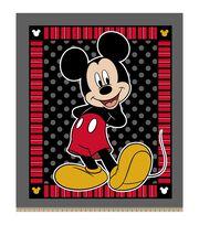 Disney Mickey Mouse 2 Print 48'' No Sew Fleece Throw, , hi-res