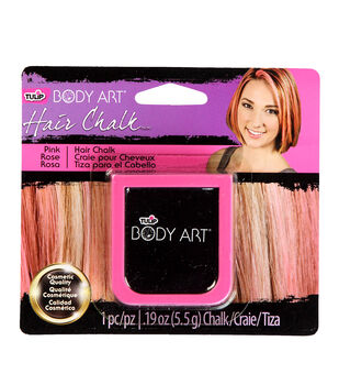 Tulip Body Art Hair Chalk .19oz-Pink