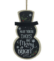 Maker's Holiday Snowman Wall Decor, , hi-res