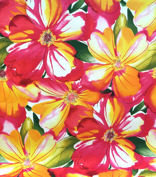 Outdoor Fabric-Floral Watercolor