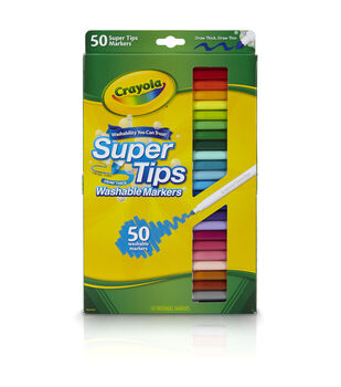 CRAYOLA 50 CT WASH SUPER TIPS MARKERS