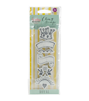 Prima Marketing Creating In Faith Cling Stamps-Royal