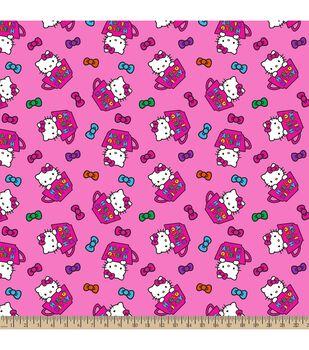 Sanrio Hello Kitty Tea Cups Flannel Fabric
