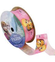 """Frozen Ribbon 7/8""""x9'-Anna&Elsa Pink, , hi-res"""